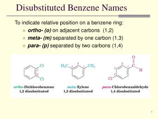 Disubstituted Benzene Names