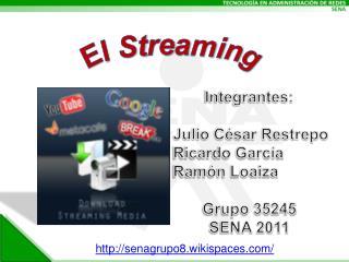 Integrantes:  Julio César Restrepo  Ricardo García  Ramón Loaiza  Grupo 35245 SENA 2011