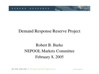 Demand Response Reserve Project