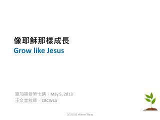 像耶穌那樣成長 Grow like Jesus
