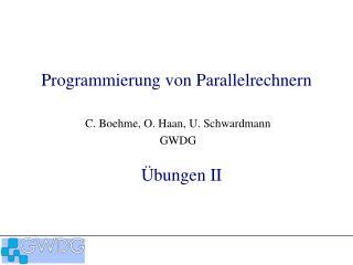 Programmierung von Parallelrechnern