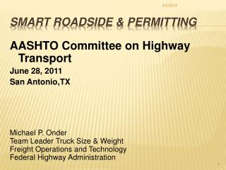 Smart Roadside  Permitting
