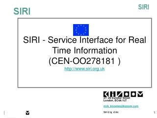 SIRI -  Service Interface for Real Time Information  (CEN-OO278181 )  siri.uk