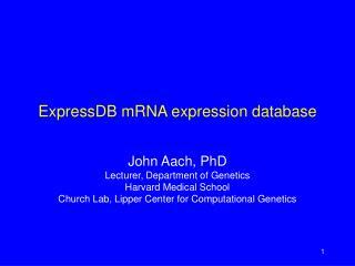 ExpressDB mRNA expression database