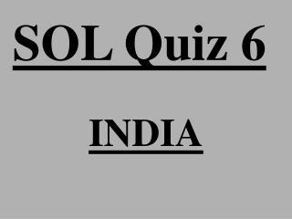 SOL Quiz 6