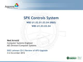 SPX Controls System  WBS U1.02.01.03.04 (R&D) WBS U1.03.03.04