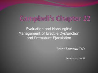 Campbell s Chapter 22