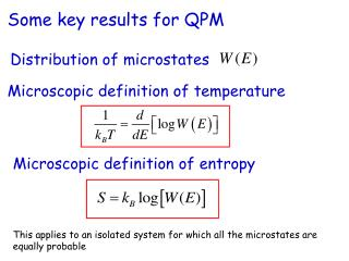 Microscopic definition of temperature