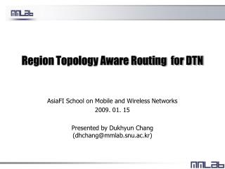 Region Topology Aware Routing  for DTN
