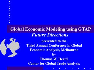 Global Economic Modeling using GTAP
