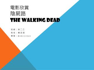 電影 欣賞 陰屍 路 THE WALKING DEAD