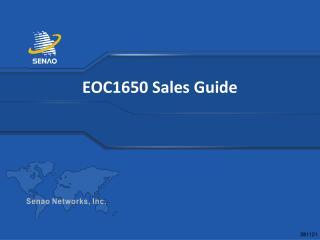 EOC1650 Sales Guide