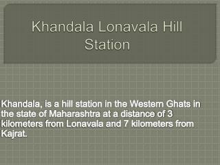 Khandala Lonavala Hill Station