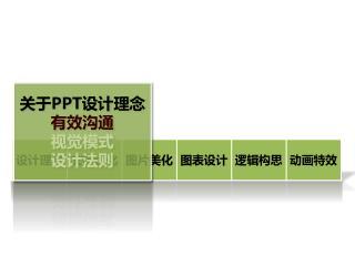 关于 PPT 设计理念 有效沟通 视觉模式 设计法则
