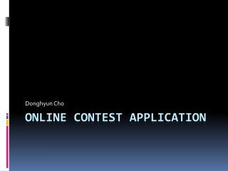 Online CONTEST APPLICATION