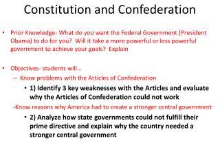 Constitution and Confederation
