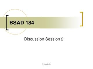 BSAD 184