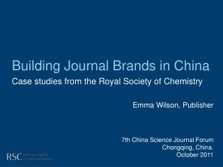 Building Journal Brands in China