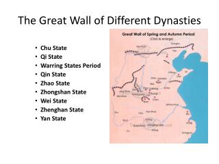 The Great Wall of Different Dynasties