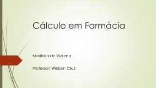 Cálculo em Farmácia