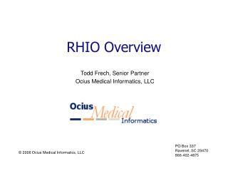 RHIO Overview
