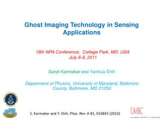 Ghost Imaging Technology in Sensing Applications