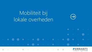 Mobiliteit bij lokale overheden