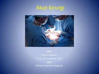 Akut kirurgi