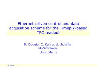 Ethernet-driven control and data acquisition scheme for the  Timepix -based TPC readout
