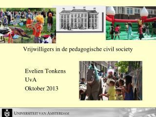 Vrijwilligers in de pedagogische  civil  society