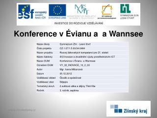 Konference v  Évianu  a  a Wannsee