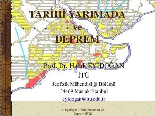 H. Eyidogan, Tarihi Yarimada ve Deprem IT