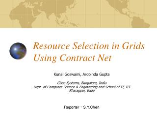 Resource Selection in Grids Using Contract Net