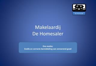 Makelaardij De  Homesaler