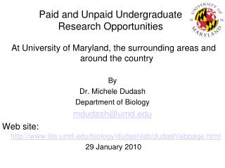 Paid  and Unpaid Undergraduate  Research Opportunities