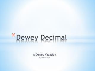 Dewey Decimal