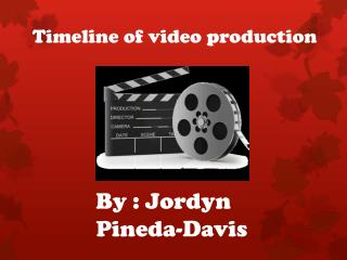 Timeline of video production