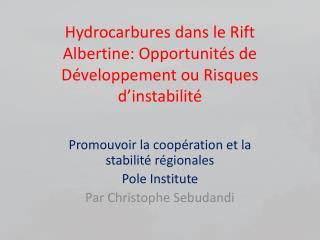 Hydrocarbures dans le Rift Albertine: Opportunités de Développement ou Risques d'instabilité