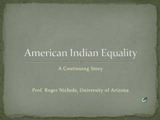 American Indian Equality