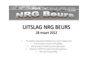 UITSLAG NRG BEURS 28 maart 2012