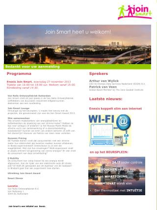 Join Smart is een initiatief  van  Enexis.