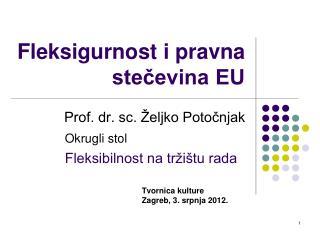 Fleksigurnost  i pravna stečevina EU