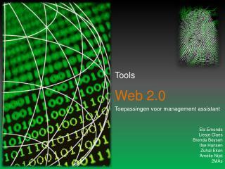 Tools Web 2.0 Toepassingen voor management  assistant