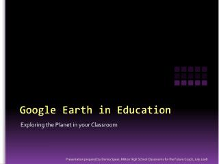 Google Earth in Education