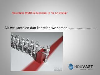 "Presentatie WMO 17 december in ""In d,n Drietip"""