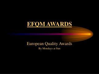 EFQM AWARDS