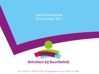 Gerrie Abrahamse  18 november 2011