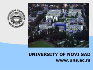 UNIVERSITY OF NOVI SAD uns.ac.rs