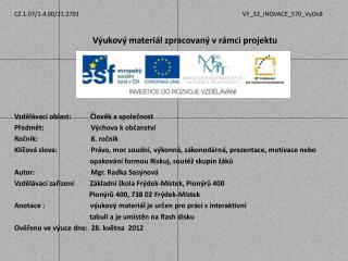 Právo, rozdělení státní moci v ČR