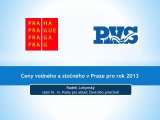 Ceny vodného a stočného v Praze pro rok 2013